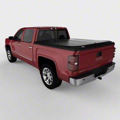 UnderCover SE Hinged Tonneau Cover - Black Textured (14-18 Sierra 1500 w/ Short & Standard Box)