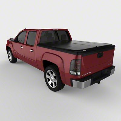 UnderCover SE Hinged Tonneau Cover - Black Textured (07-13 Sierra 1500 w/ Short & Standard Box)