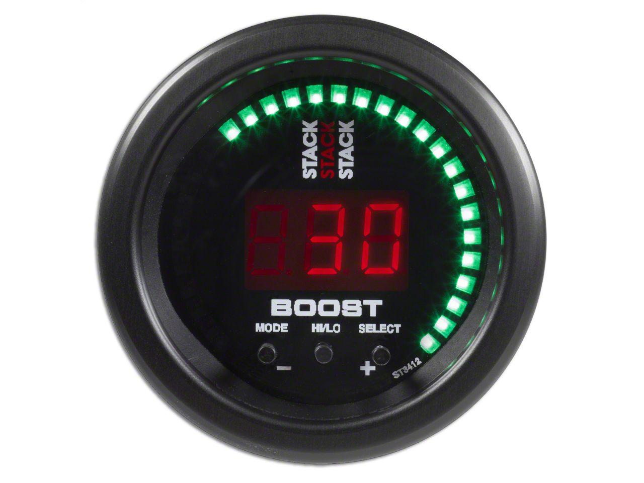 Auto Meter Stack Boost Controller Gauge - Black (07-18 Sierra 1500)