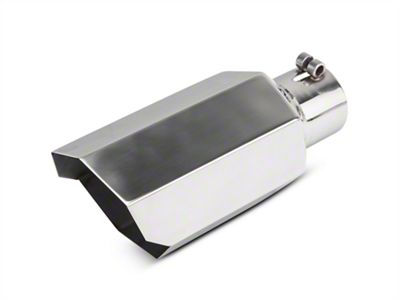 Barricade 5 in. Stagger Cut Exhaust Tip - Polished - 3.0 in. Connection (07-18 Sierra 1500)