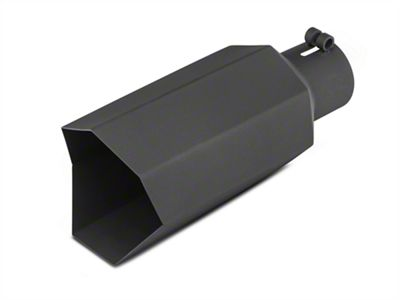 Barricade 5 in. Big Mouth Exhaust Tip - Black - 3.0 in. Connection (07-18 Sierra 1500)