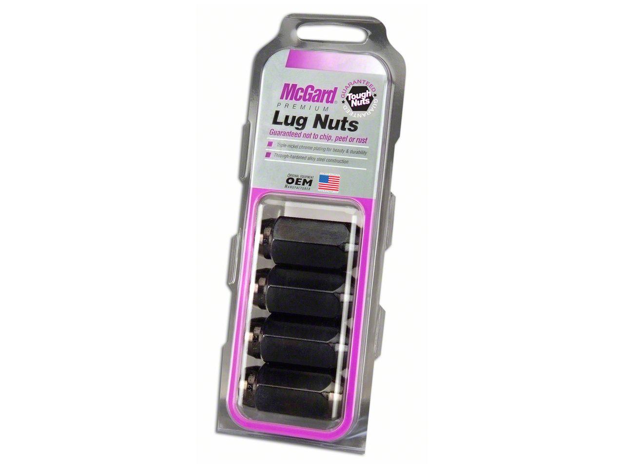McGard Black Cone Seat Style Lug Nut Set - 14mm x 1.5 in. - Set of Four (07-18 Sierra 1500)