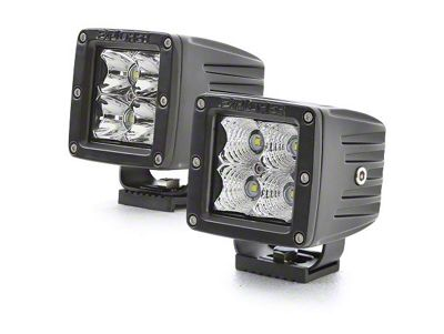 Pro Comp 4 in. Explorer Series LED Cube Lights - Flood Beam - Pair