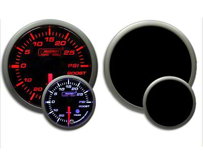 Prosport Dual Color Premium Boost Gauge - Electrical - Amber/White (07-18 Sierra 1500)
