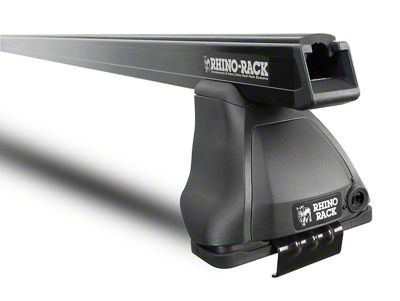 Rhino-Rack Heavy Duty 2500 Rear 1-Bar Roof Rack - Black (14-18 Sierra 1500 Double Cab, Crew Cab)