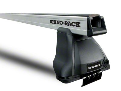 Rhino-Rack Heavy Duty 2500 Rear 1-Bar Roof Rack - Silver (14-18 Sierra 1500 Double Cab, Crew Cab)