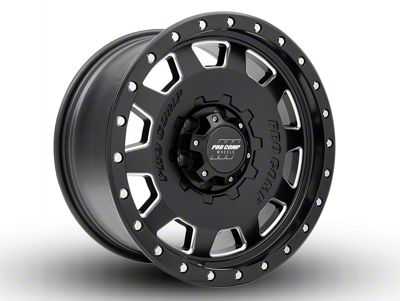 Pro Comp Hammer Satin Black Milled 6-Lug Wheel - 17x9 (07-18 Sierra 1500)