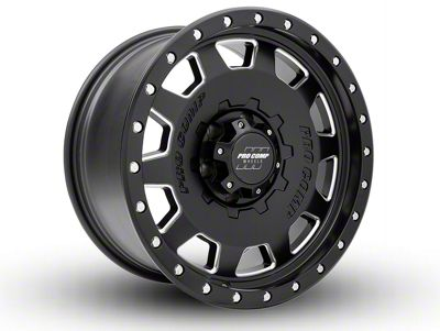 Pro Comp Hammer Satin Black Milled 6-Lug Wheel - 18x9 (07-18 Sierra 1500)