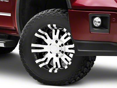 Pro Comp Series 8101 Gloss Black Machined 6-Lug Wheel - 17x8 (07-18 Sierra 1500)