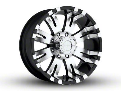Pro Comp Series 8101 Gloss Black Machined 6-Lug Wheel - 17x9 (07-18 Sierra 1500)