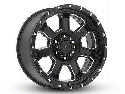 Pro Comp Sledge Satin Black Milled 6-Lug Wheel - 17x9 (07-18 Sierra 1500)