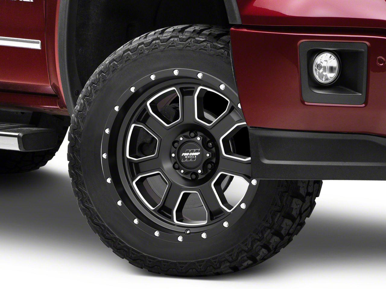 Pro Comp Sledge Satin Black Milled 6-Lug Wheel - 20x9 (07-18 Sierra 1500)