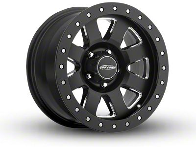 Pro Comp Vapro Pro Satin Black Milled 6-Lug Wheel - 17x9 (07-18 Sierra 1500)