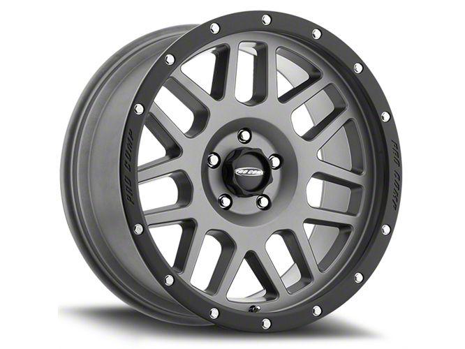 Pro Comp Vertigo Matte Graphite 6-Lug Wheel - 17x9 (07-18 Sierra 1500)