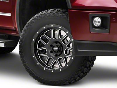 Pro Comp Vertigo Satin Black Milled 6-Lug Wheel - 17x9 (07-18 Sierra 1500)