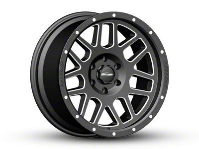 Pro Comp Vertigo Satin Black Milled 6-Lug Wheel - 20x9 -12mm Offset (07-18 Sierra 1500)
