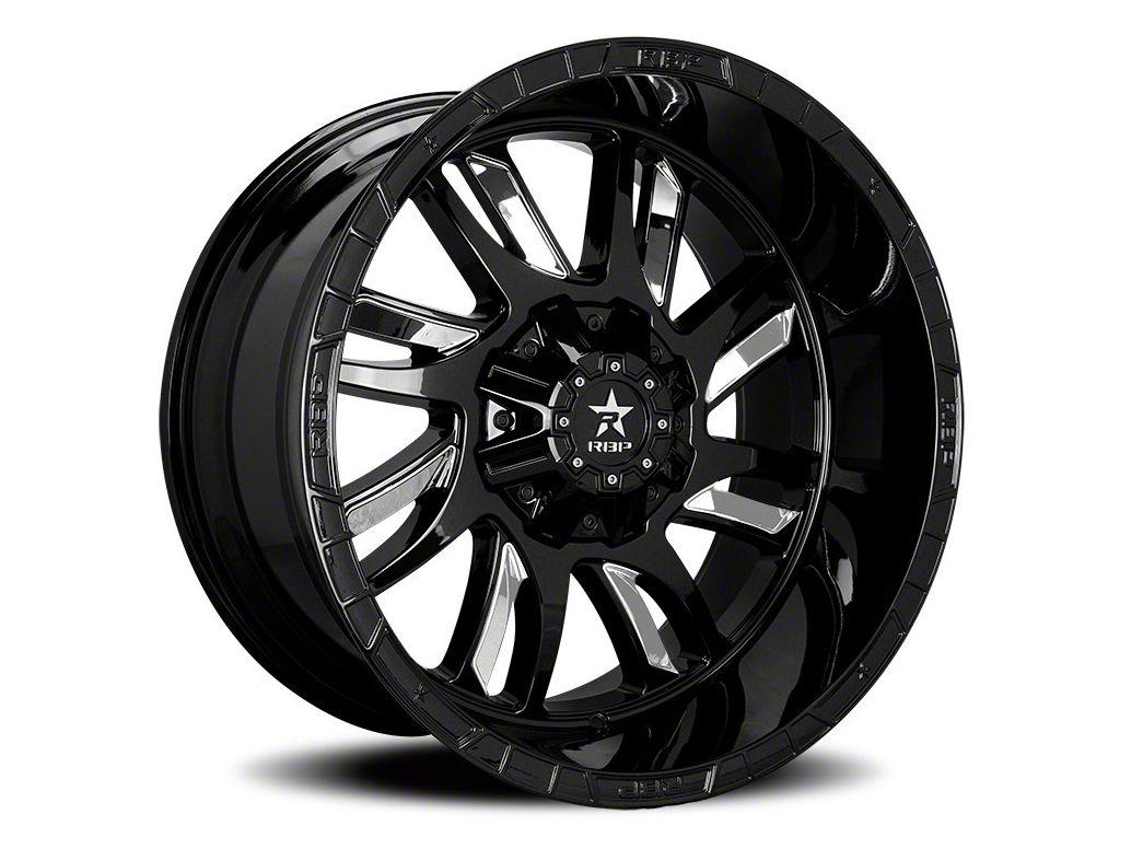 RBP 69R Swat Black w/ Chrome Inserts 6-Lug Wheel - 22x12 (07-18 Sierra 1500)