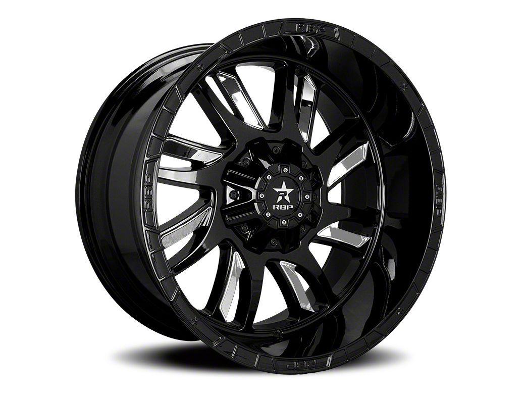 RBP 69R Swat Black w/ Chrome Inserts 6-Lug Wheel - 22x14 (07-18 Sierra 1500)
