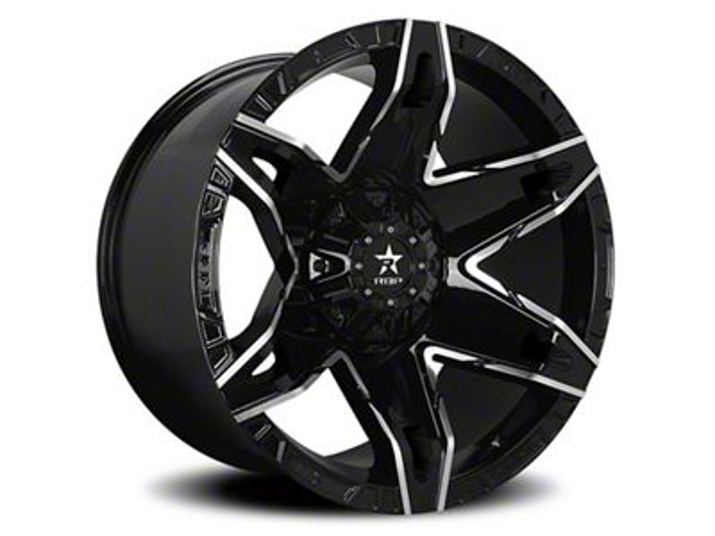 RBP 70R Quantum Gloss Black w/ Machined Grooves 6-Lug Wheel - 20x12 (07-18 Sierra 1500)