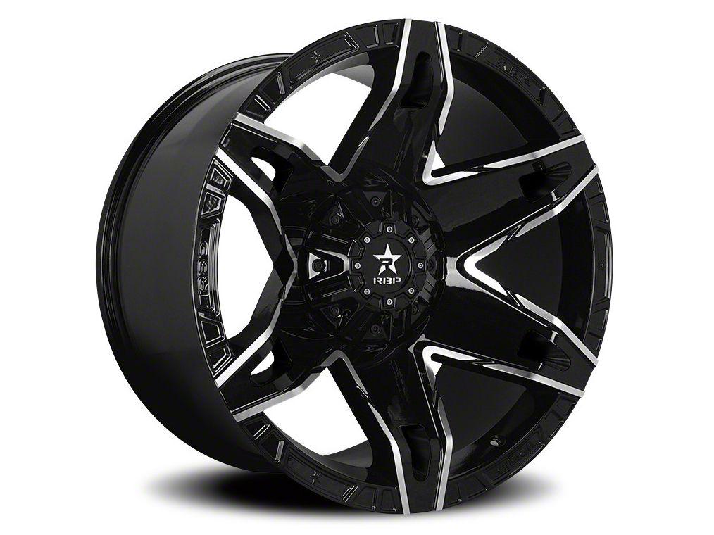 RBP 70R Quantum Gloss Black w/ Machined Grooves 6-Lug Wheel - 22x12 (07-18 Sierra 1500)