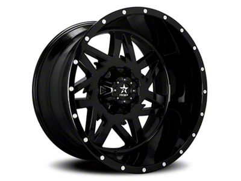 RBP 71R Avenger Gloss Black 6-Lug Wheel - 22x12 (07-18 Sierra 1500)
