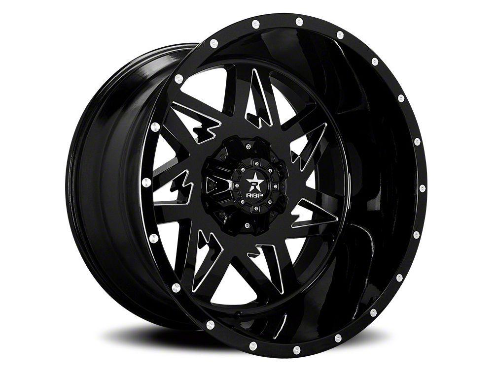 RBP 71R Avenger Gloss Black w/ Machined Grooves 6-Lug Wheel - 22x12 (07-18 Sierra 1500)