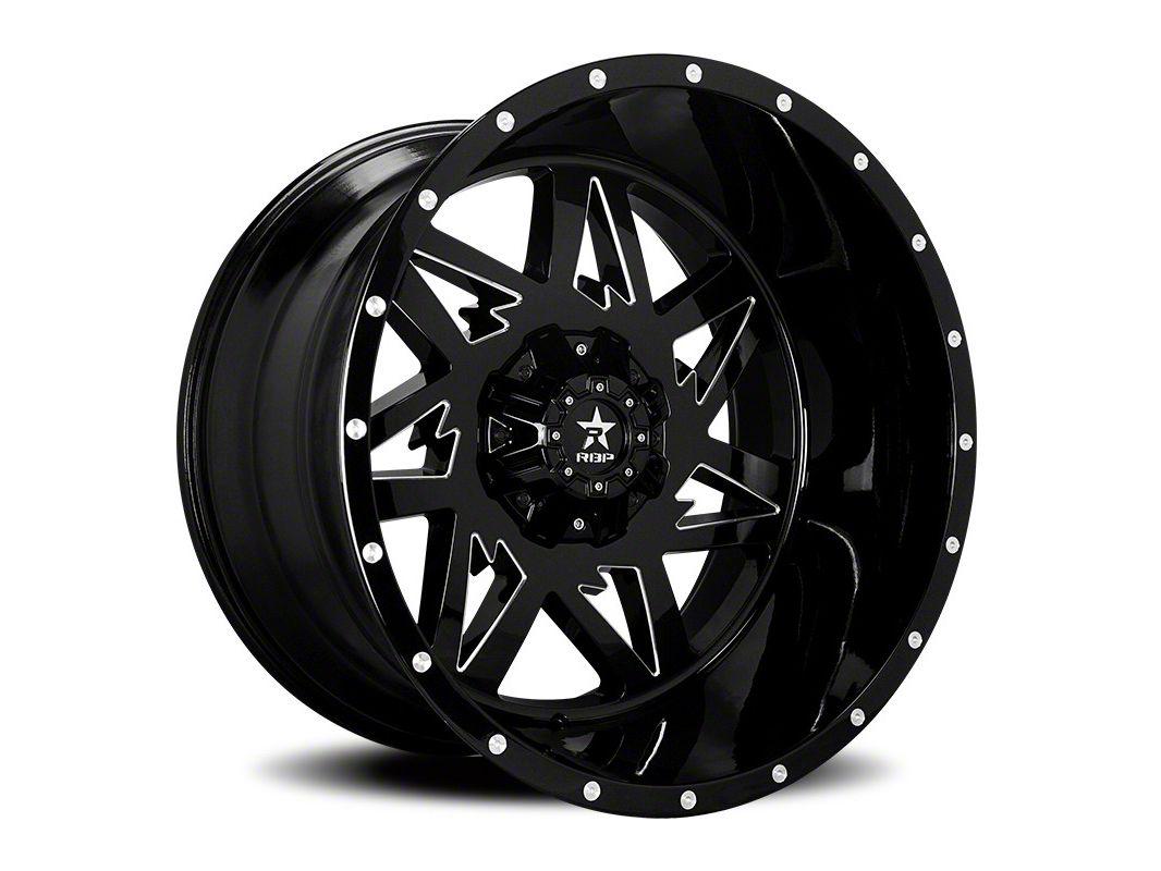 RBP 71R Avenger Gloss Black w/ Machined Grooves 6-Lug Wheel - 24x14 (07-18 Sierra 1500)
