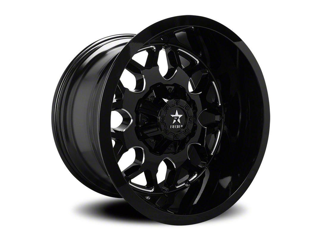 RBP 73R Atomic Gloss Black w/ Machined Grooves 6-Lug Wheel - 20x12 (07-18 Sierra 1500)