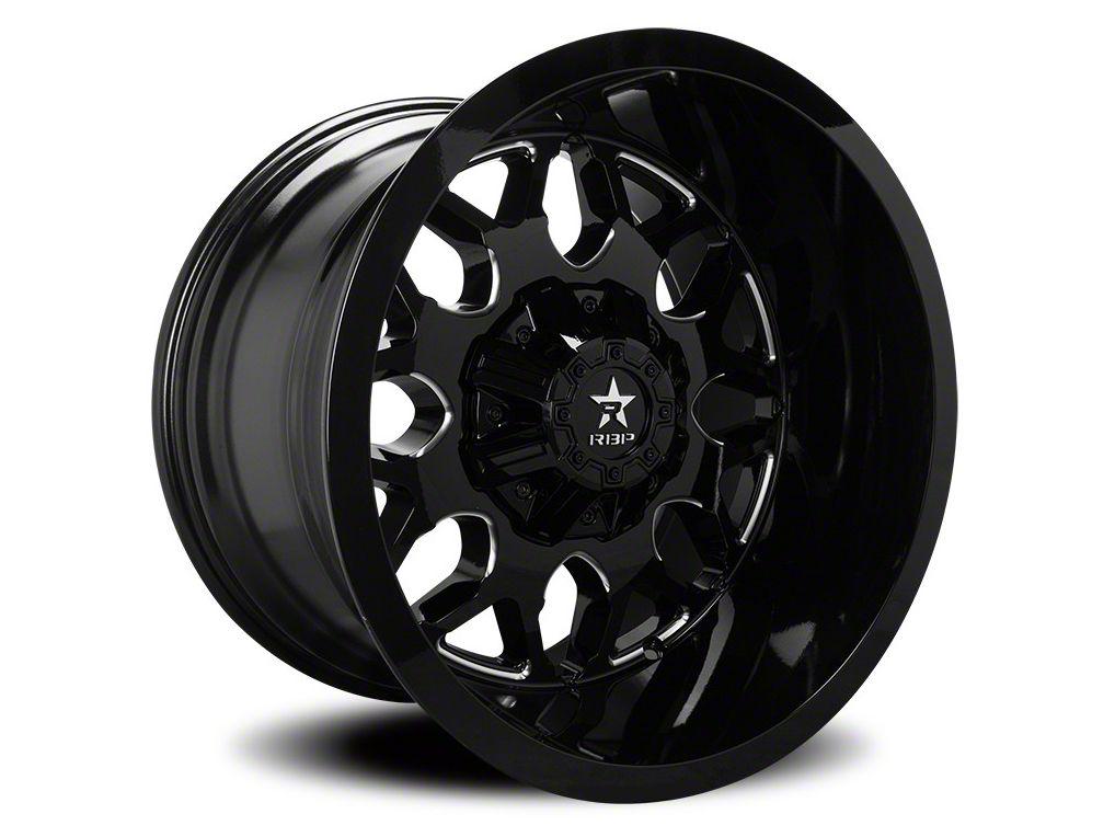 RBP 73R Atomic Gloss Black w/ Machined Grooves 6-Lug Wheel - 22x12 (07-18 Sierra 1500)