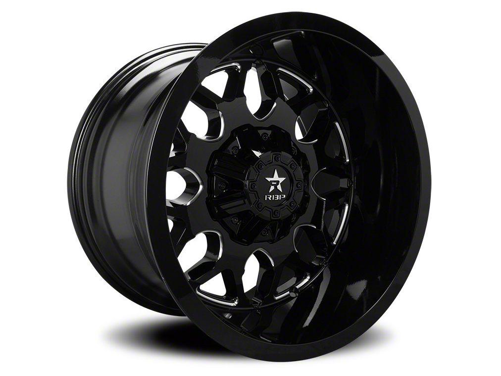 RBP 73R Atomic Gloss Black w/ Machined Grooves 6-Lug Wheel - 24x14 (07-18 Sierra 1500)