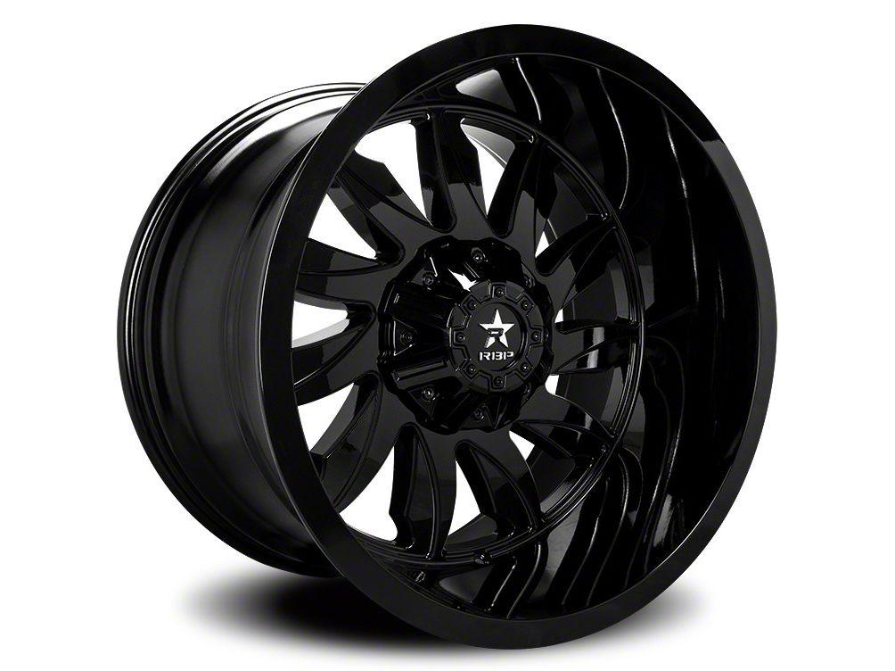 RBP 74R Silencer Gloss Black 6-Lug Wheel - 22x12 (07-18 Sierra 1500)