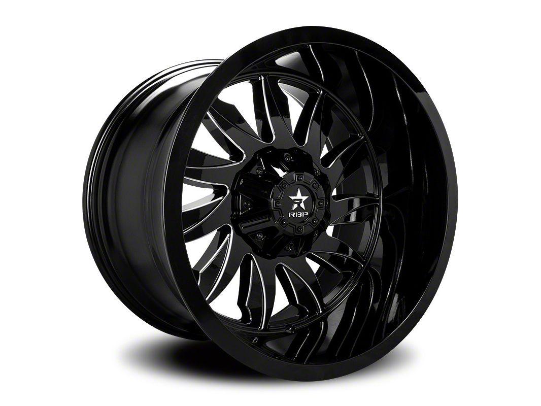 RBP 74R Silencer Gloss Black w/ Machined Grooves 6-Lug Wheel - 20x12 (07-18 Sierra 1500)