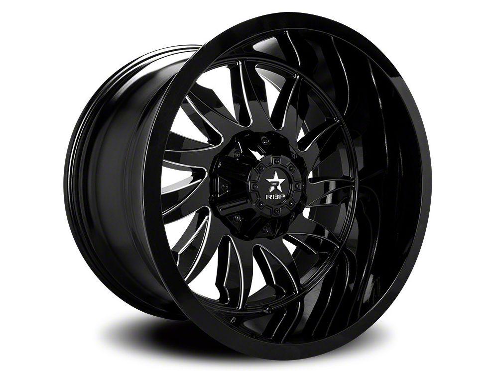 RBP 74R Silencer Gloss Black w/ Machined Grooves 6-Lug Wheel - 22x12 (07-18 Sierra 1500)