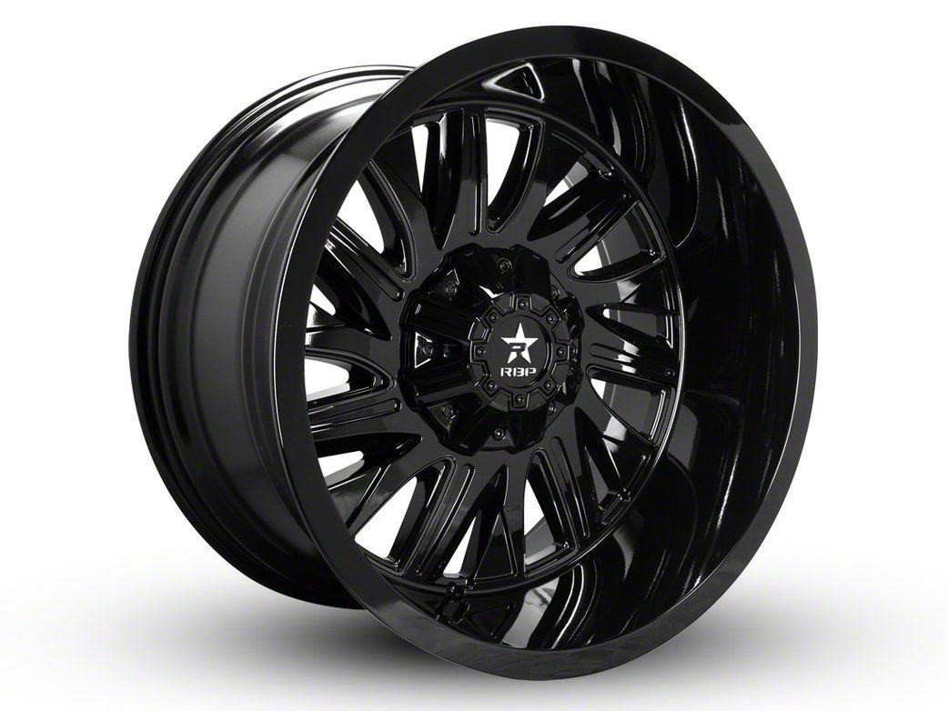 RBP 75R Batallion Gloss Black 6-Lug Wheel - 22x12 (07-18 Sierra 1500)
