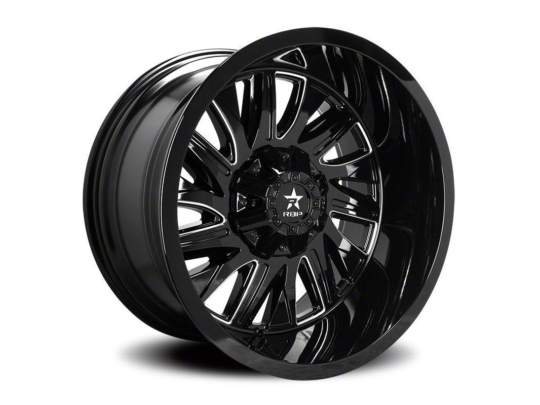 RBP 75R Batallion Gloss Black w/ Machined Grooves 6-Lug Wheel - 20x12 (07-18 Sierra 1500)