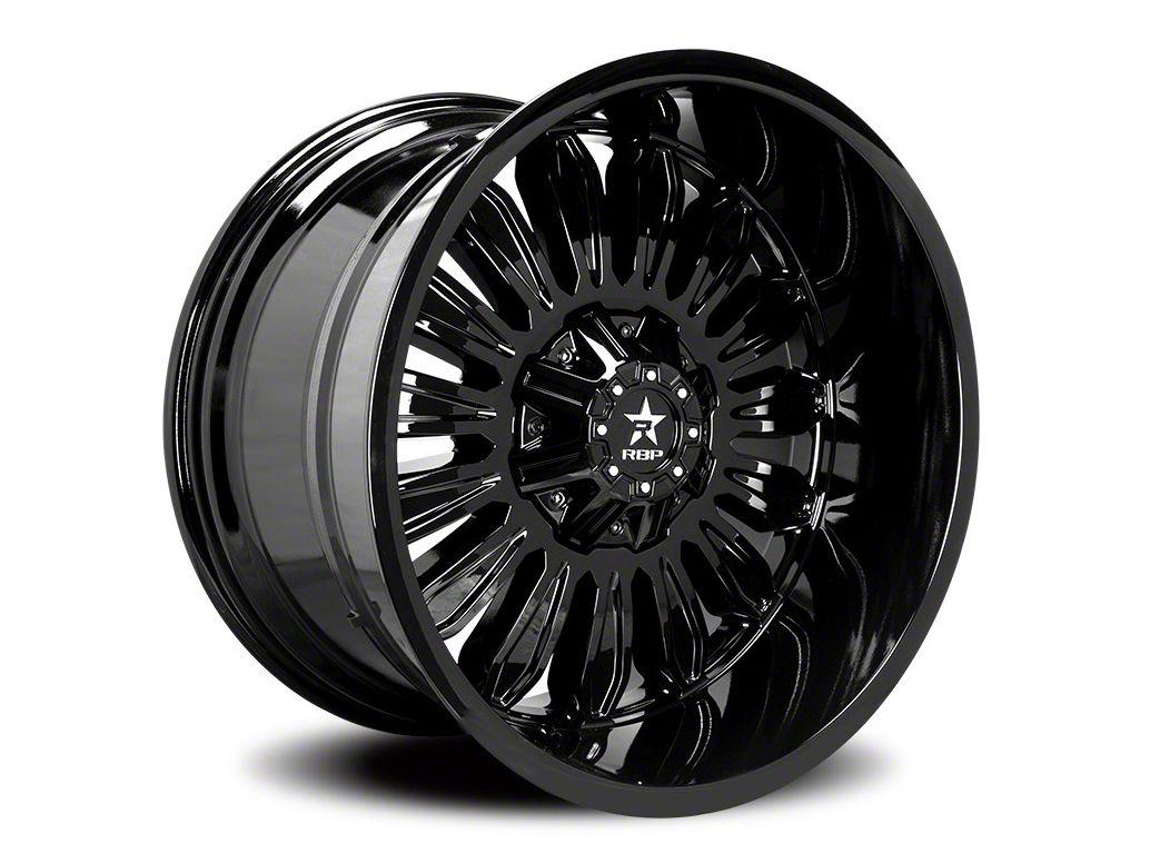 RBP 76R Roulette Gloss Black 6-Lug Wheel - 22x12 (07-18 Sierra 1500)