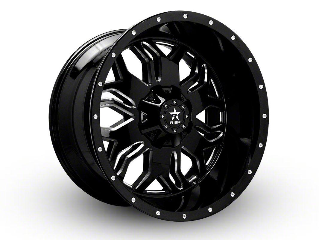 RBP 87R Blade Gloss Black w/ Machined Grooves 6-Lug Wheel - 20x12 (07-18 Sierra 1500)