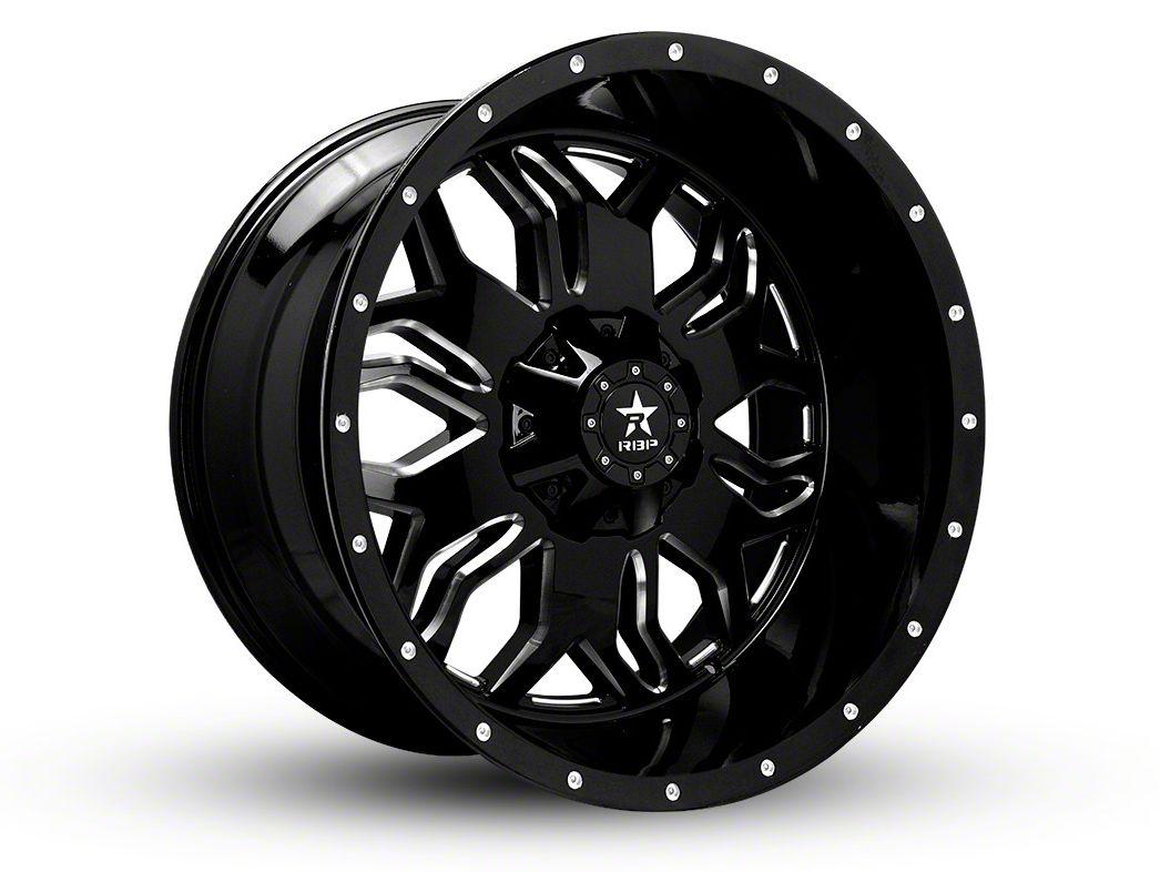 RBP 87R Blade Gloss Black w/ Machined Grooves 6-Lug Wheel - 22x12 (07-18 Sierra 1500)