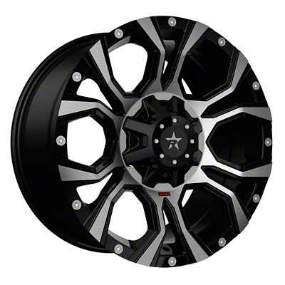 RBP 64R Widow Black Machined 6-Lug Wheel - 20x10 (07-18 Sierra 1500)