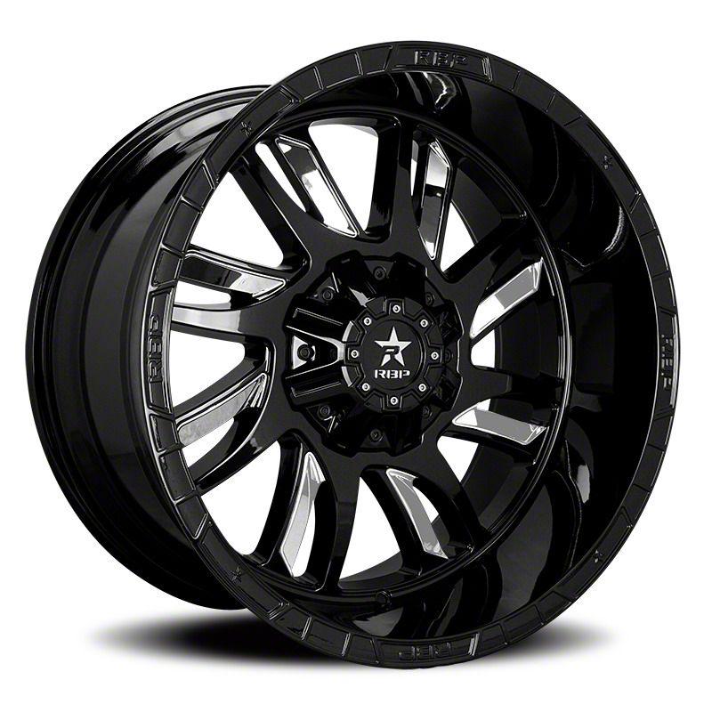 RBP 69R Swat Black w/ Chrome Inserts 6-Lug Wheel - 20x10 (07-18 Sierra 1500)