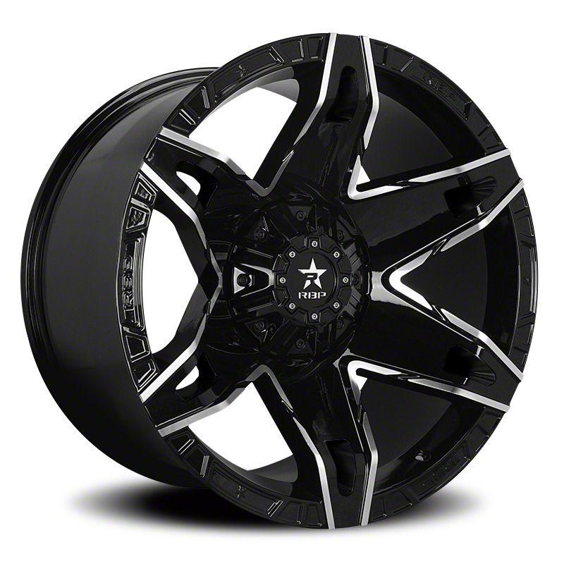 RBP 70R Quantum Gloss Black w/ Machined Grooves 6-Lug Wheel - 20x10 (07-18 Sierra 1500)