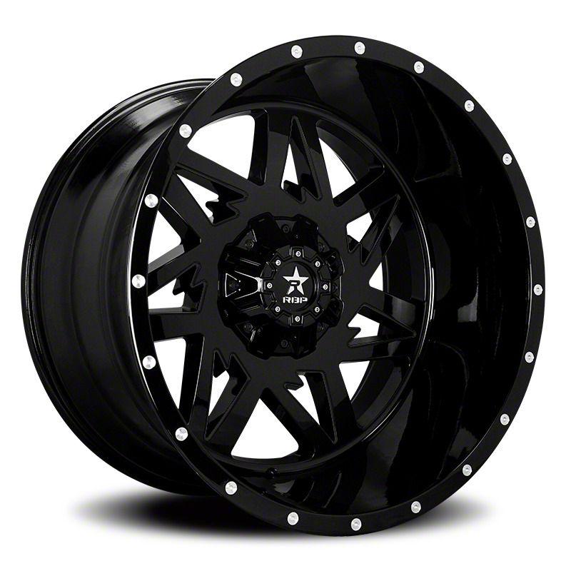 RBP 71R Avenger Gloss Black 6-Lug Wheel - 20x10 (07-18 Sierra 1500)