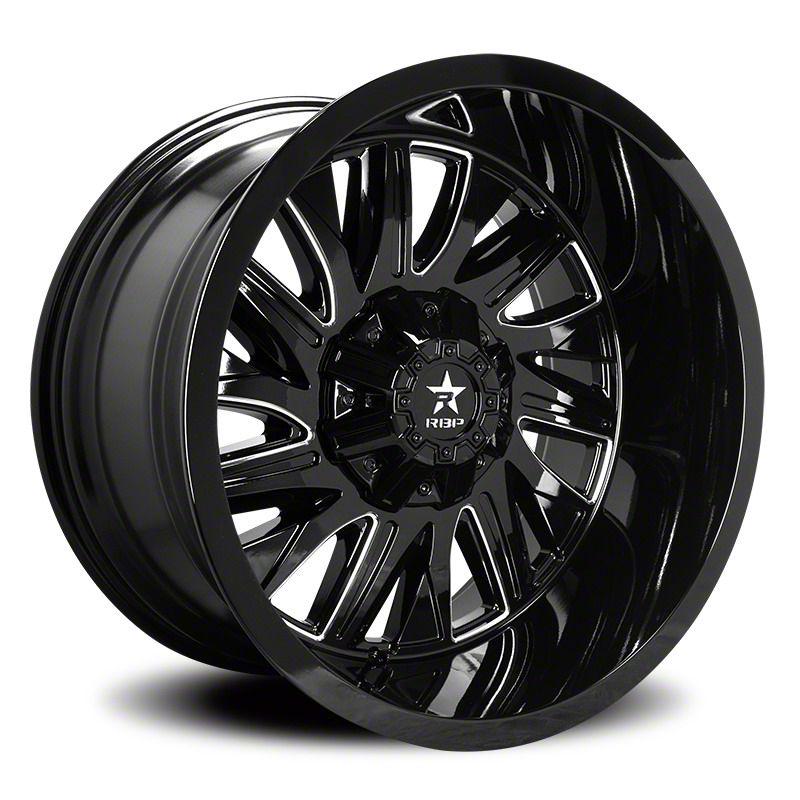 RBP 75R Batallion Gloss Black w/ Machined Grooves 6-Lug Wheel - 20x9 (07-18 Sierra 1500)