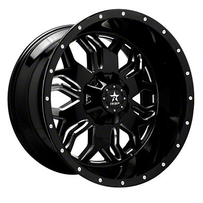 RBP 87R Blade Gloss Black w/ Machined Grooves 6-Lug Wheel - 24x12 (07-18 Sierra 1500)