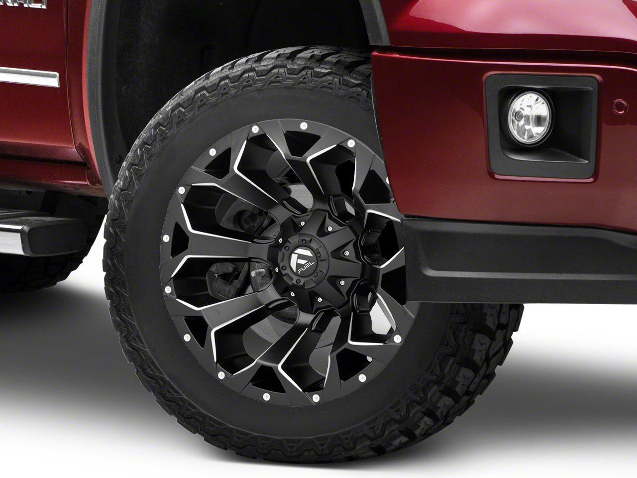 Fuel Wheels Assault Black Milled 6-Lug Wheel - 20x12 (07-18 Sierra 1500)