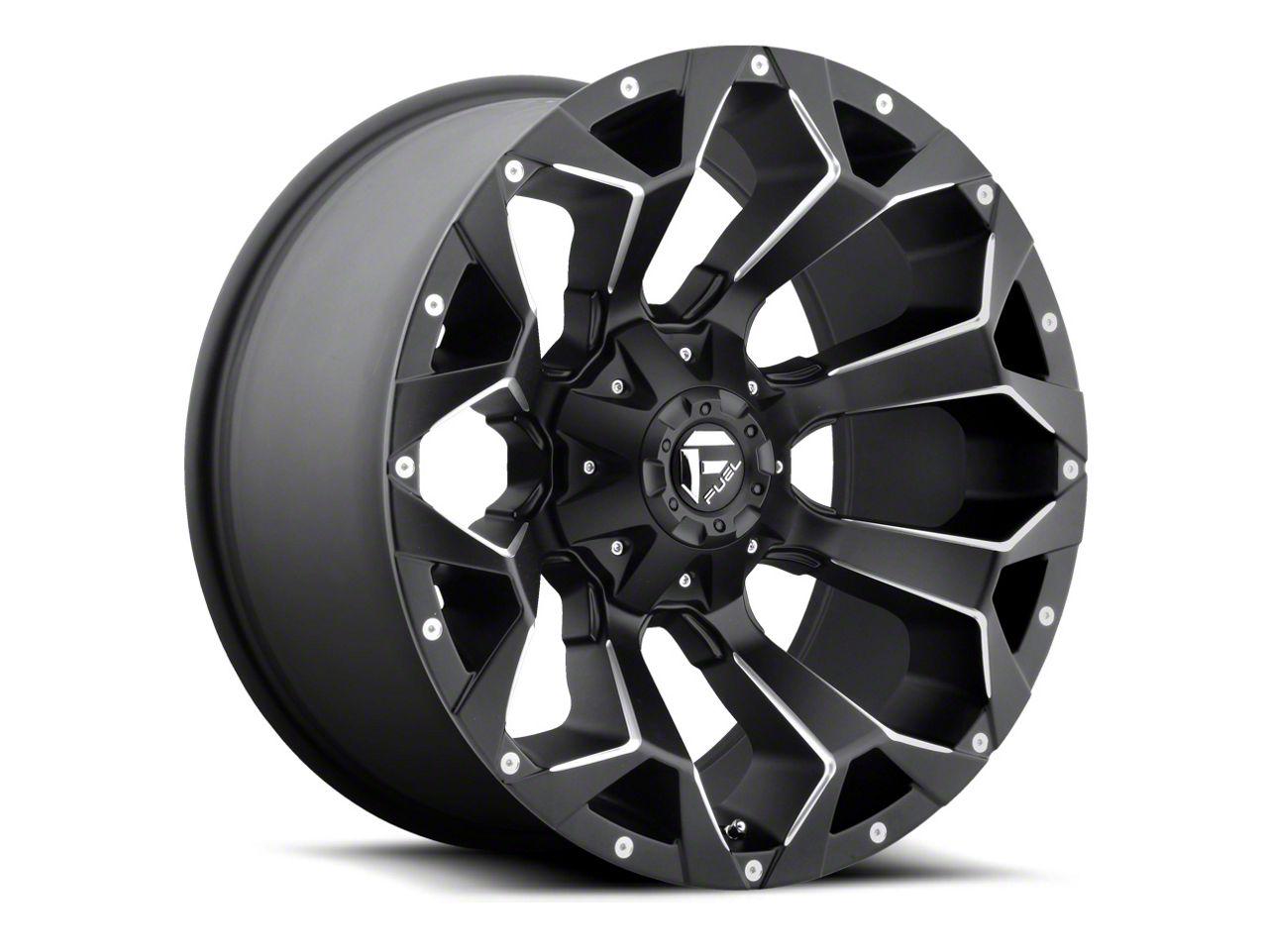 Fuel Wheels Assault Black Milled 6-Lug Wheel - 22x10 (07-18 Sierra 1500)