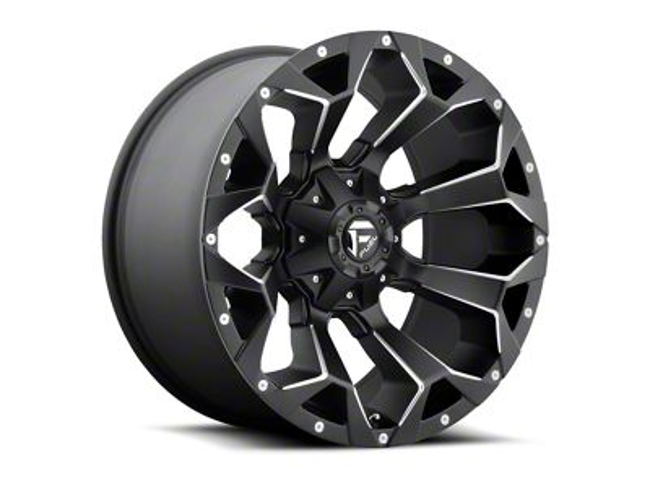 Fuel Wheels Assault Black Milled 6-Lug Wheel - 22x12 (07-18 Sierra 1500)