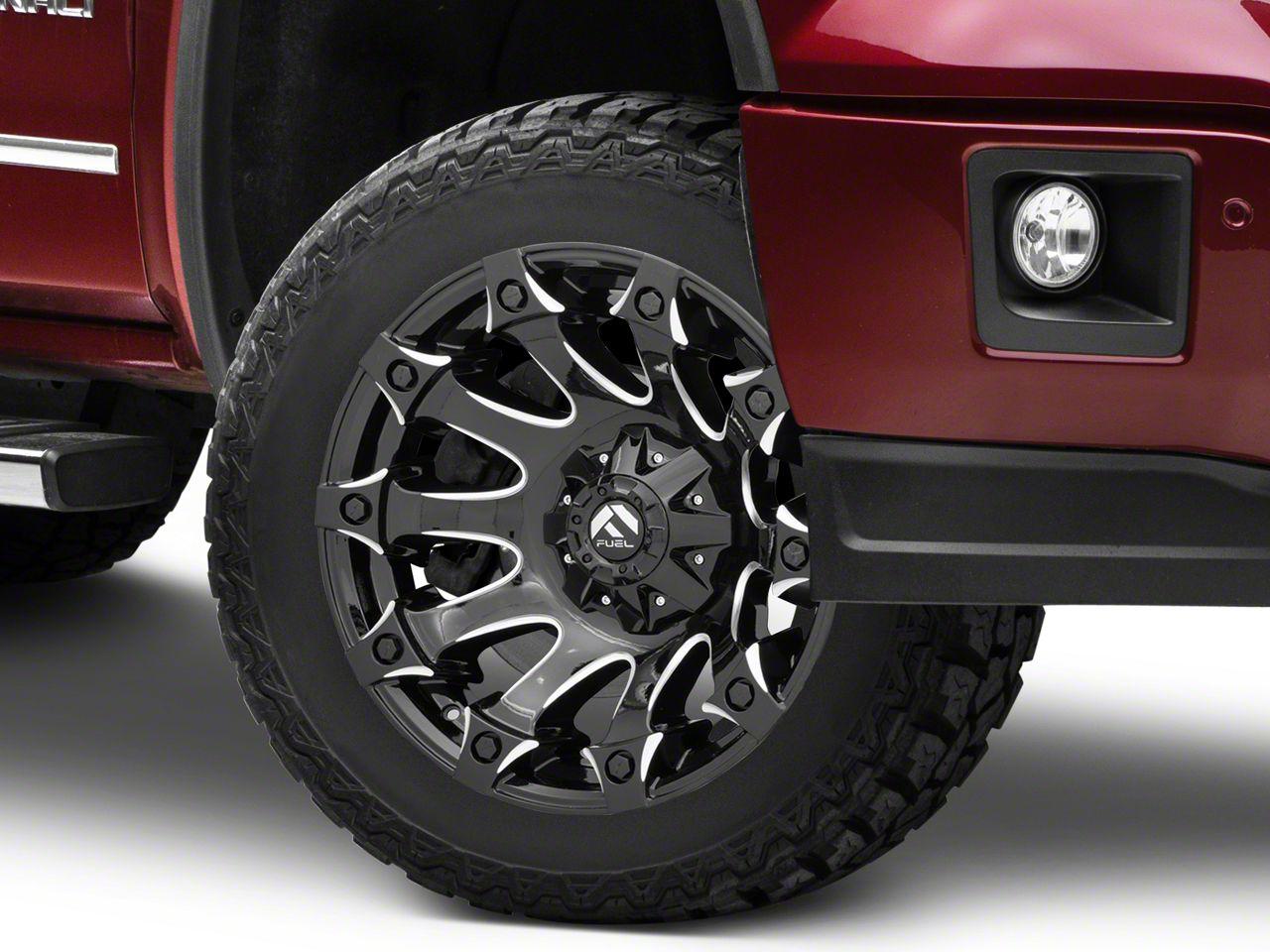 Fuel Wheels Battle Axe Gloss Black Milled 6-Lug Wheel - 20x12 (07-18 Sierra 1500)