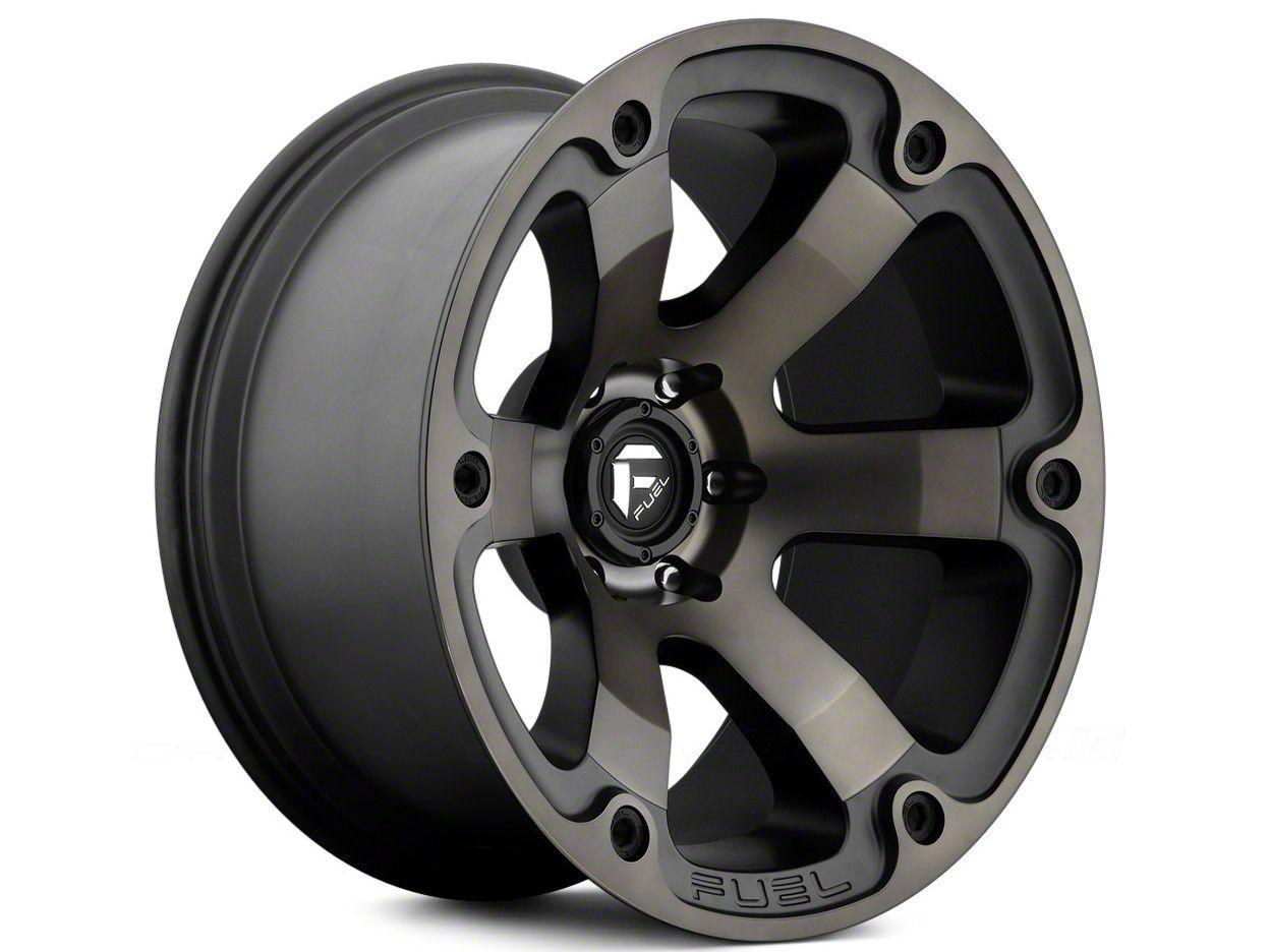Fuel Wheels Beast Black Machined 6-Lug Wheel - 20x12 (07-18 Sierra 1500)