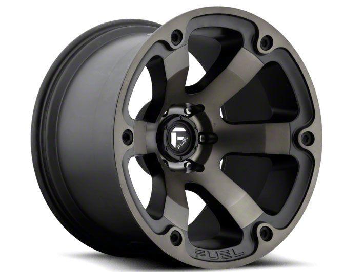 Fuel Wheels Beast Matte Black Machined 6-Lug Wheel - 22x12 (07-18 Sierra 1500)